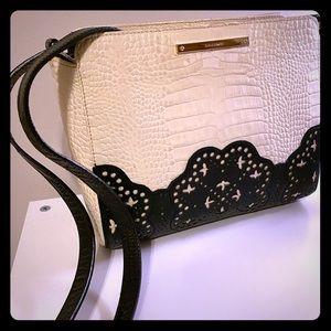 Black and Ivory Brahmin shoulder bag